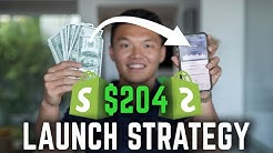$204 Launch Strategy for Your First Sale || Shopify Dropshipping 2020