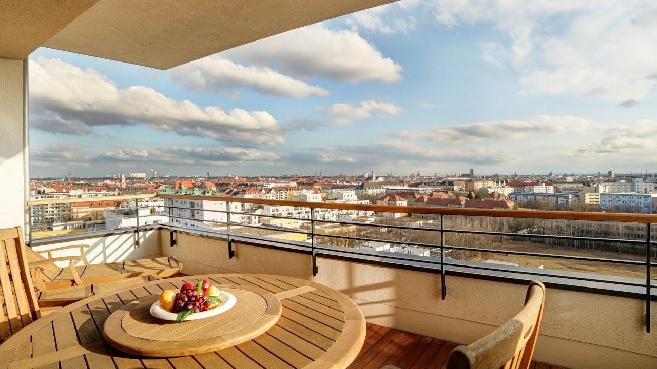 200 qm penthouse m nchen olympiapark youtube. Black Bedroom Furniture Sets. Home Design Ideas