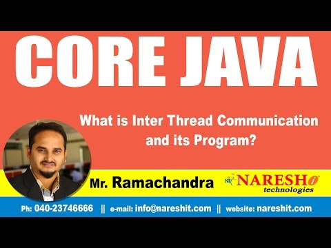 What Is Inter Thread Communication And Its Program? | Core Java Tutorial | By Mr.Ramachandra