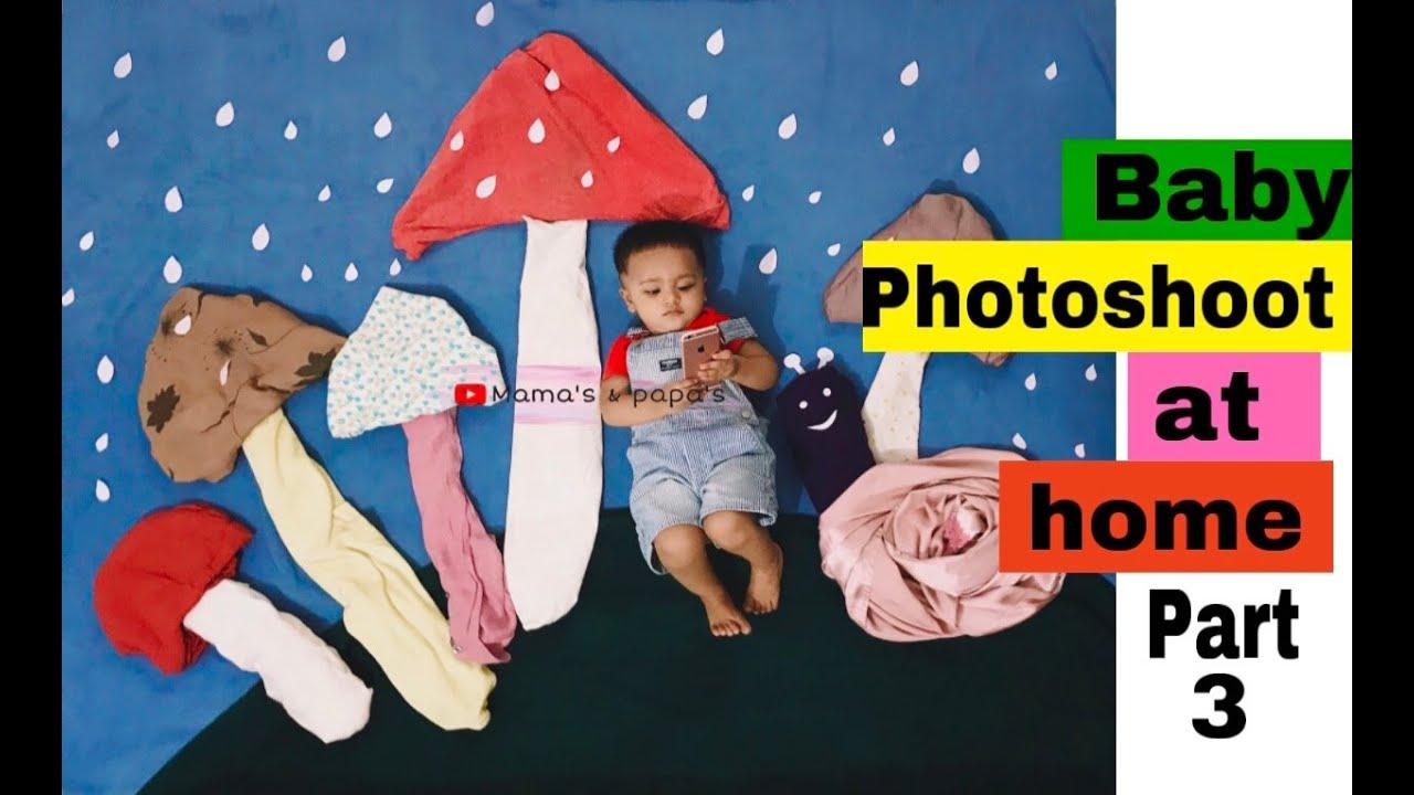 Baby photoshoot at home | Part- 3 | Rainy season theme ...