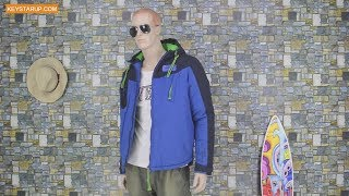 Blue men coat outerwear wholesale hood jacket brand customized JAK0005