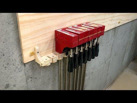 Clamp Hanging Rack, Baltic Birch Plywood