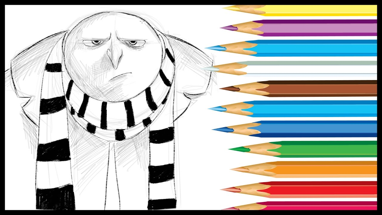 How to draw gru from despicable me 3 youtube how to draw gru from despicable me 3 altavistaventures Images