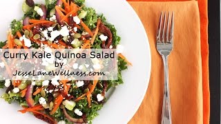 Curry Kale Quinoa Salad  (gluten Free, Nut Free, Vegetarian)