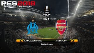 Pes 2018 (pc) olympique marseille v arsenal | 2018 uefa europa league final | 16/5/2018