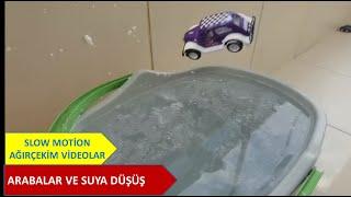 CARS DİVİNG TO WATER . ARABANIN SUYA DALIŞI. SlowOle. Slow Motion. Ağır çekim. Huawei Mate 30 Pro