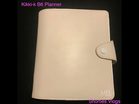 My new baby/ kikki-k b6 planner insider planner