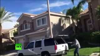 Las Vegas man catches burglars red-handed fleeing neighbour