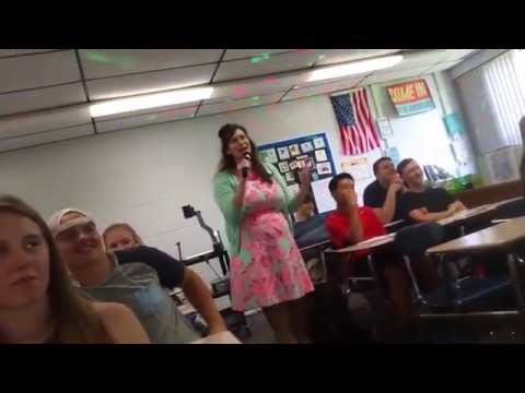 Teacher on First day sings Cringy Math Parodies
