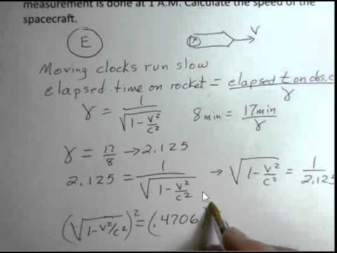 Special Relativity Time Dilation Calculate Velocity Given Times