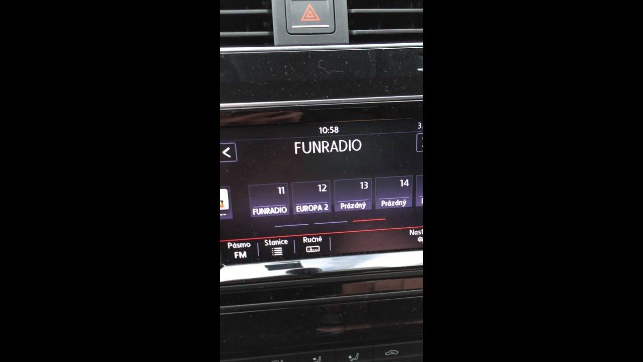 VW Golf VII 3 radio problem - YouTube