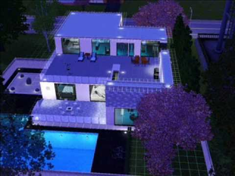 The sims 3 casa moderna youtube for Casas modernas sims 4 paso a paso