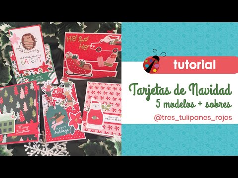 Tarjetas navideñas con Merry Little Christmas de Pebbles