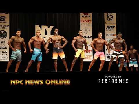 2018 IFBB NY Pro Men's Physique Prejudging Video