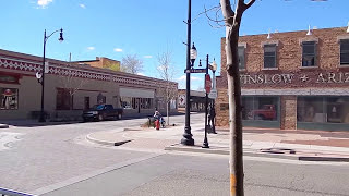 Standing on the Corner in Winslow, Arizona. Route 66. Full 1080p HD. 3/3/14.