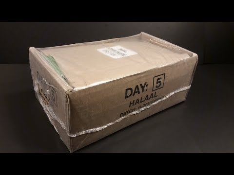 2018 South African 24 Hour Ration Pack MRE Review Chicken Briyani Meal Ready To Eat Taste Testing