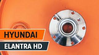 Kuinka vaihtaa takapyörän laakeri HYUNDAI ELANTRA HD merkkiseen autoon OHJEVIDEO | AUTODOC