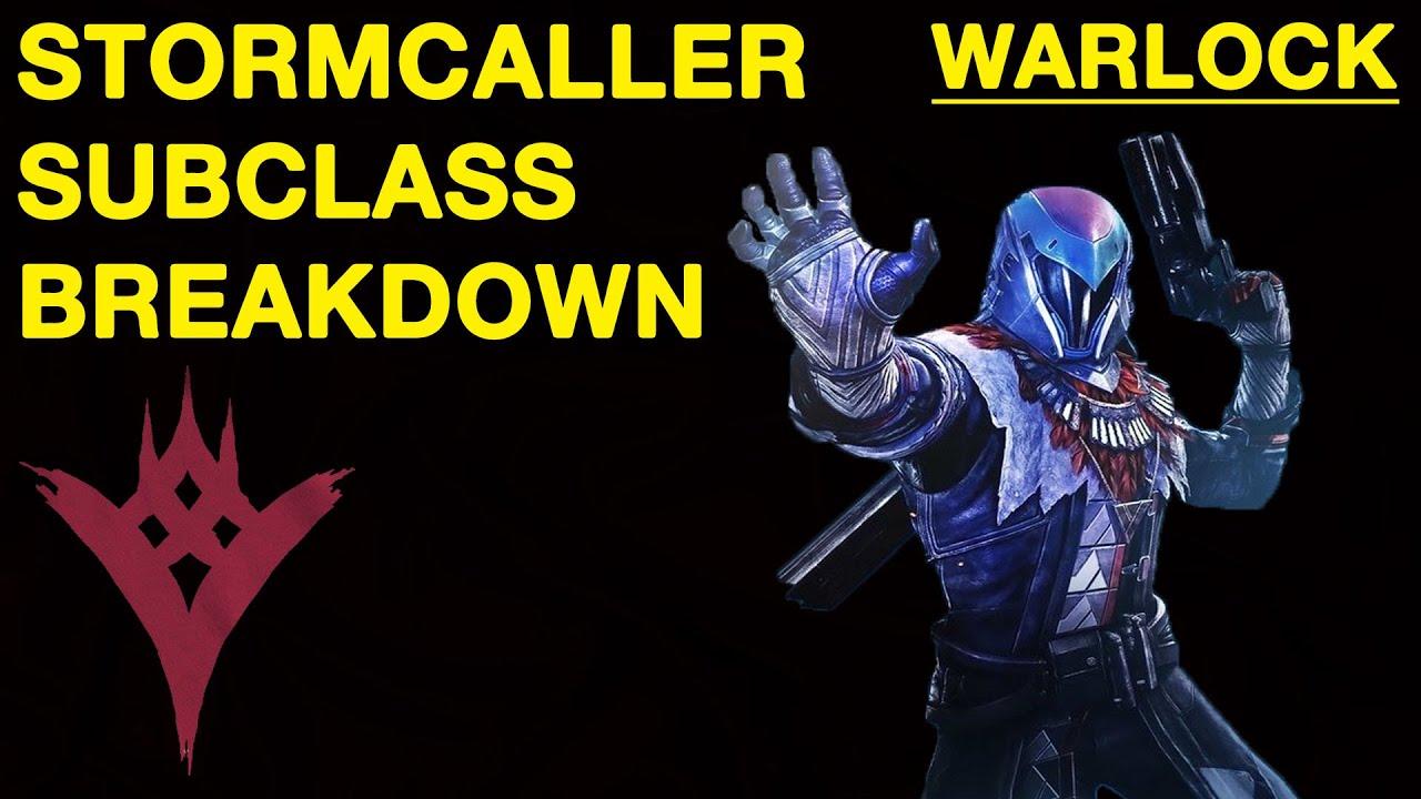 Destiny warlock stormcaller subclass breakdown youtube - Warlock stormcaller ...
