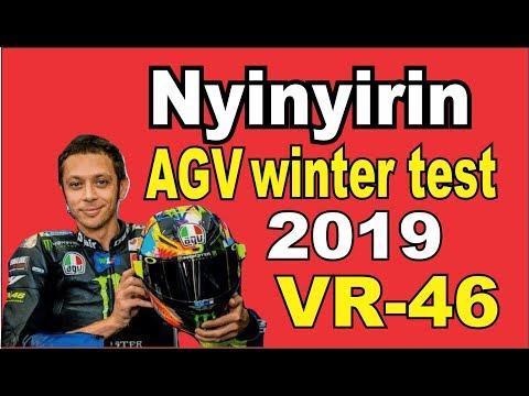 review, komen dan Repaint Motif agv  Winter Test 2019 valentino rossi