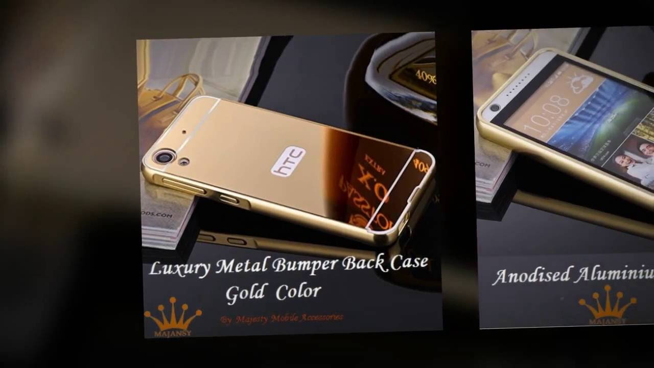 on sale b79ba 73cb1 Luxury Metal Bumper Back Cover for HTC Desire 628 - Gold Color Accessories