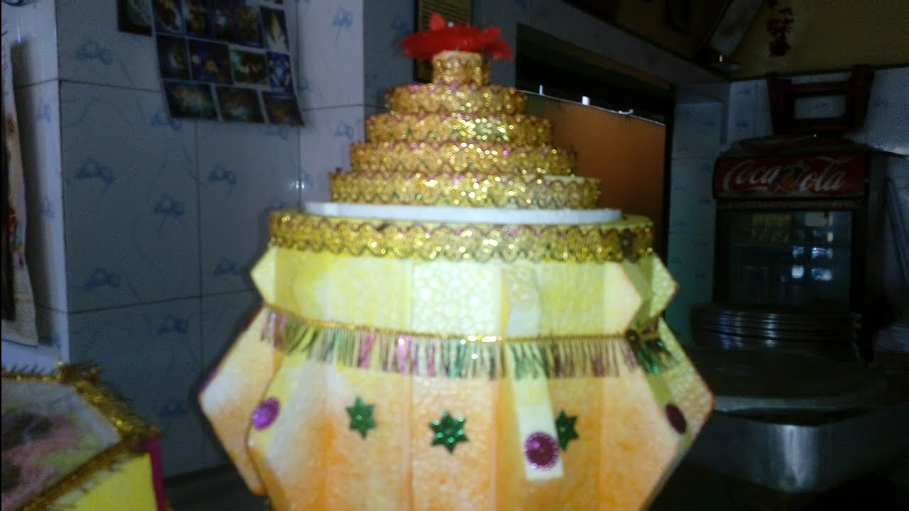 Attractive Dahi Handi Tray Decoration at a Sweet Shop for Tatwa in Bengali Marriage Ceremony
