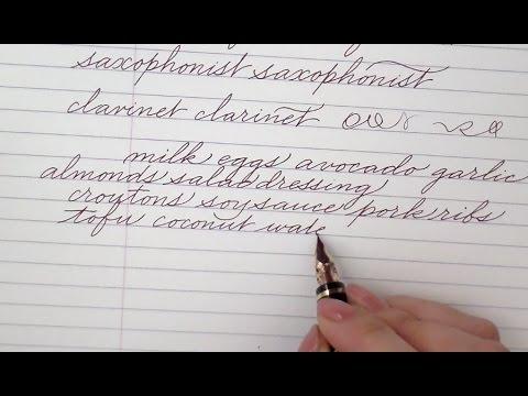 Write cursive with Schin u, v, w, x, y, z - YouTube