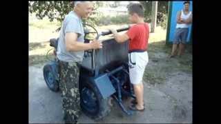 Самодельный трактор из запорожца, москвича,жигуля/ Eigenbau traktor / Homemade tractor