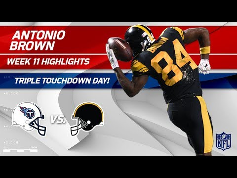 Antonio Brown is Unstoppable w/ 10 Grabs, 3 TDs & 144 Yards | Titans vs. Steelers | Wk 11 Player HLs