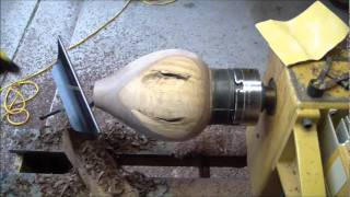 Turning a Black Walnut Bottle