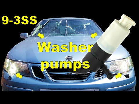 Saab 9-3 Windscreen Washer Pump Replacement | Saab 9-3 Common Problems