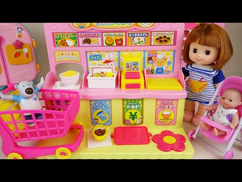 Baby doll convenience store mini mart toys play with Pororo