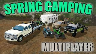 SPRING CAMPING | JOHN DEERE GATOR + CAN-AM ATV AND MORE | MULTIPLAYER