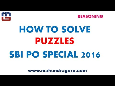 HOW TO SOLVE PUZZLES