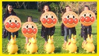 Humpty Dumpty Song 巨大アンパンマンボール Anpanman Nursery Rhyme for Kids | 英語の童謡 子供向けの歌 幼児向け ごっこ遊び こどものうた キッズ