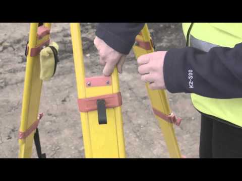 Set up total station over a point