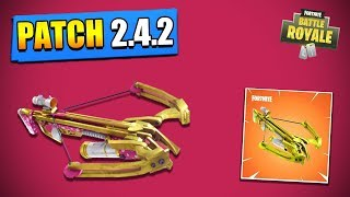 PATCH 2.4.2: 'NEW' ARME THE ARBALETE! on FORTNITE Battle Royale