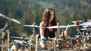 Repeat youtube video Beauty takes it out on these Drums - Boss!