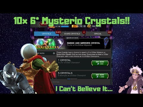NO FREAKING WAY!! 10 Smoke and Mirror Crystal Opening Domadeus Gaming - Marvel Contest of Champions