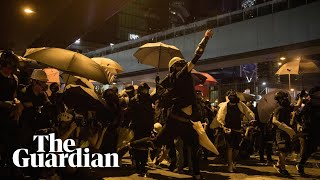 Teargas and water cannon fired at Hong Kong protesters