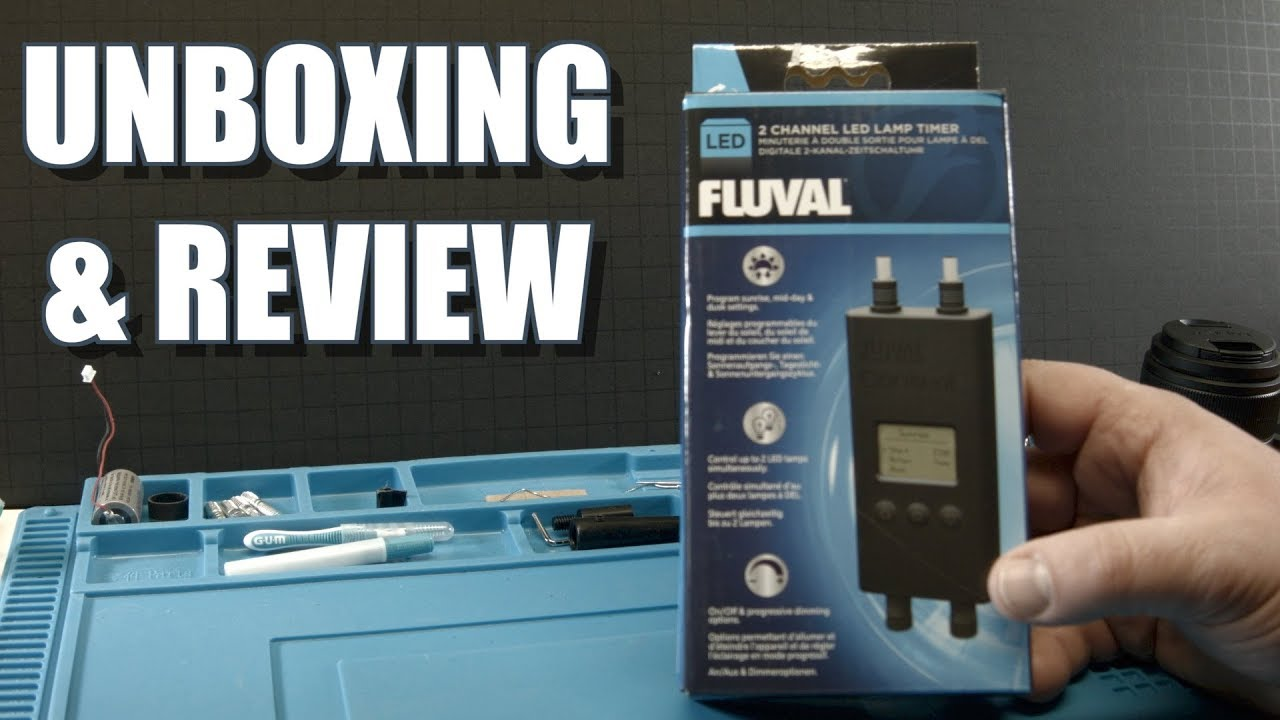 Fluval 2 Channel LED Lamp Timer - YouTube