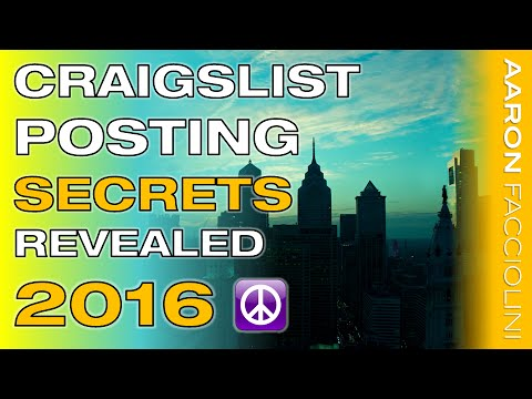 How to Post on Craigslist 2016 - Best FREE Craigslist Training EVER