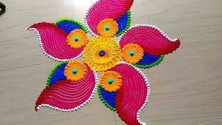 Beautiful & innovative Diwali festival's rangoli design by Rathod