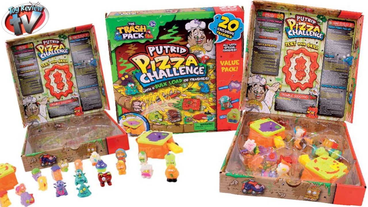 The Trash Pack Putrid Pizza Playset  20 Exclusive Trashies Toy