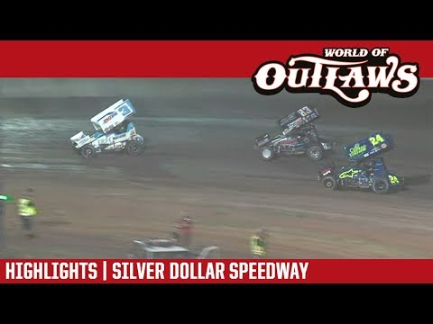 World of Outlaws Craftsman Sprint Cars Silver Dollar Speedway September 8, 2018 | HIGHLIGHTS