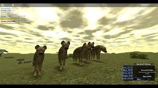 ROBLOX wild savannah hyena pack