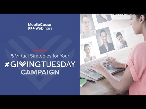 5 Virtual Strategies For Your #GivingTuesday Campaign