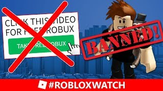 ROBLOX Bans FREE ROBUX And Youtuber Pokediger1! - #RobloxWatch - BIG Roblox Terms Of Service Change!