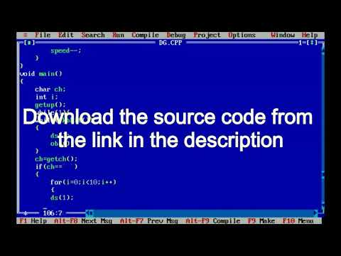 Download C Game Tutorial Dinosaurs Game In Turbo C With
