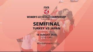 Live: Turkey v Japan - FIVB Volleyball Women's U23 World Championship Turkey 2015