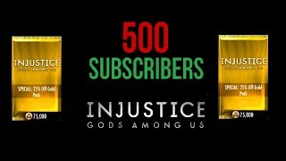 Repeat youtube video Injustice iOS - 500 Sub Special (CLOSED)/Booster Pack Opening - Giveaway?